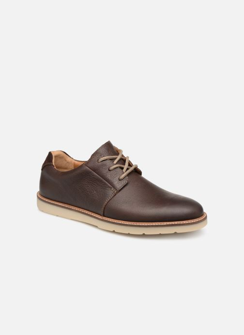 Lace-up shoes Clarks Grandin Plain Brown detailed view/ Pair view