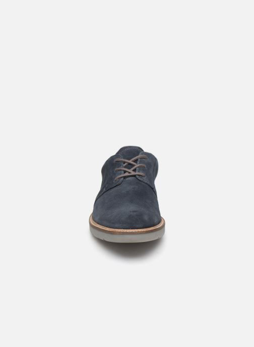 Chaussures à lacets Clarks Grandin Plain Bleu vue portées chaussures