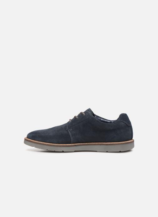 Chaussures à lacets Clarks Grandin Plain Bleu vue face