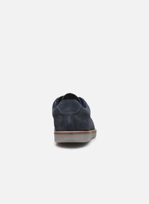 Chaussures à lacets Clarks Grandin Plain Bleu vue droite