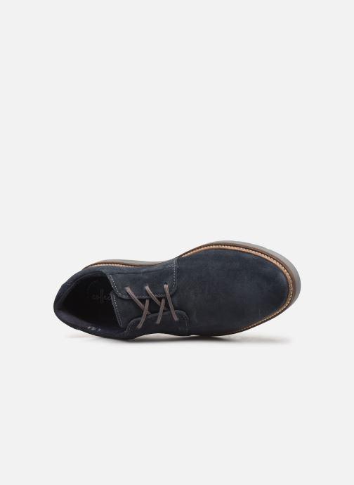 Chaussures à lacets Clarks Grandin Plain Bleu vue gauche