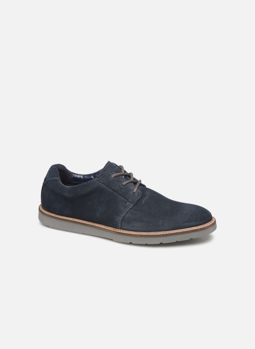 Lace-up shoes Clarks Grandin Plain Blue detailed view/ Pair view