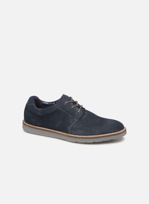 Chaussures à lacets Clarks Grandin Plain Bleu vue détail/paire