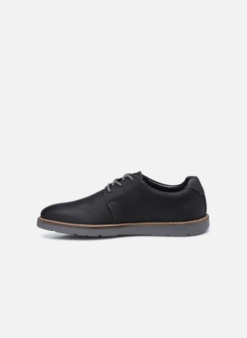 Chaussures à lacets Clarks Grandin Plain Noir vue face