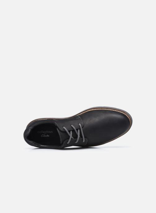 Chaussures à lacets Clarks Grandin Plain Noir vue gauche
