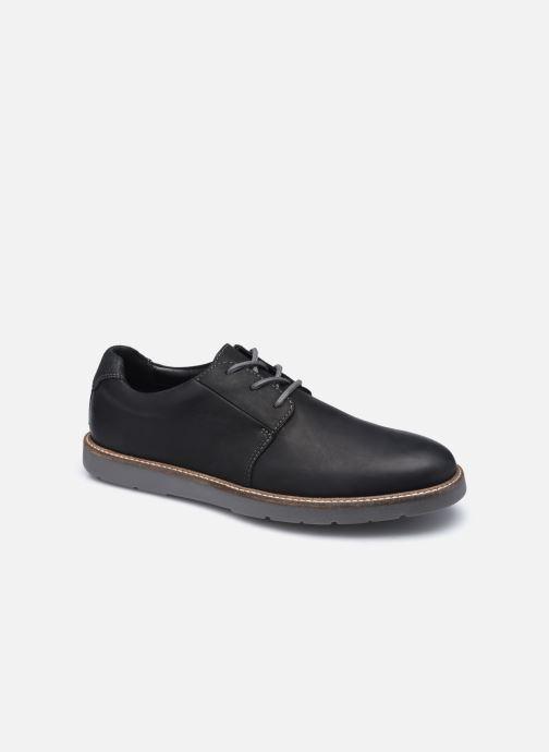 Chaussures à lacets Clarks Grandin Plain Noir vue détail/paire