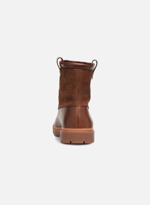 Bottines et boots Clarks Trace Top Marron vue droite