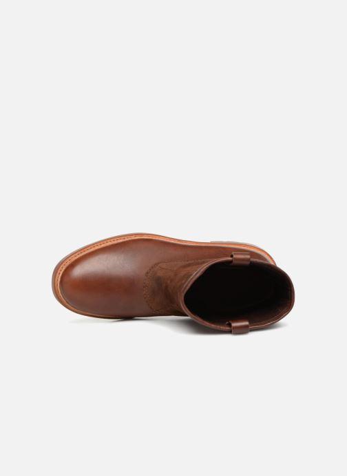 Bottines et boots Clarks Trace Top Marron vue gauche