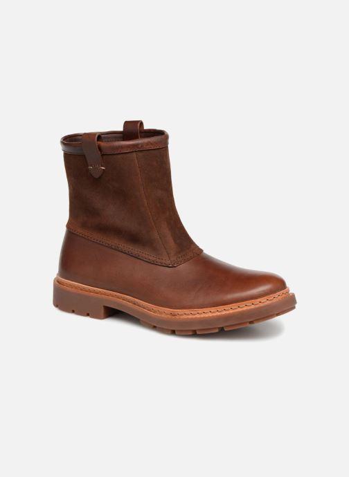Bottines et boots Clarks Trace Top Marron vue détail/paire