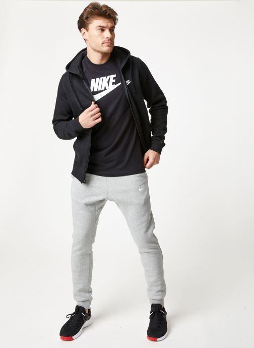 Tøj Nike M Nike Sportwear Club Hoodie Full Zip Sort se forneden