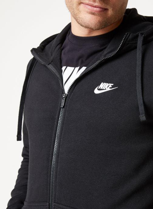 Tøj Nike M Nike Sportwear Club Hoodie Full Zip Sort se forfra