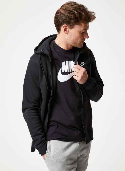 Tøj Nike M Nike Sportwear Club Hoodie Full Zip Sort Se fra højre