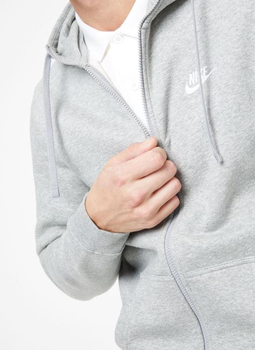 Tøj Nike M Nike Sportwear Club Hoodie Full Zip Grå se forfra