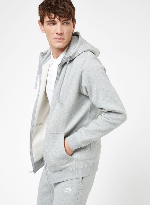 Vêtements Nike M Nike Sportwear Club Hoodie Full Zip Gris vue droite