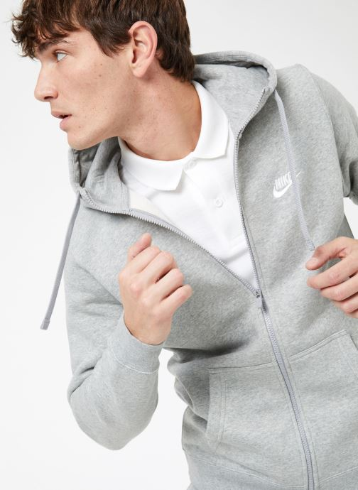 Tøj Nike M Nike Sportwear Club Hoodie Full Zip Grå detaljeret billede af skoene