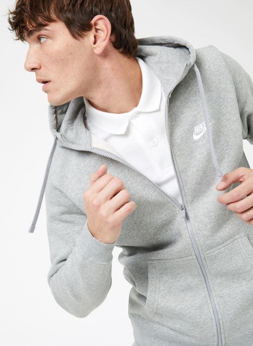 Vêtements Nike M Nike Sportwear Club Hoodie Full Zip Gris vue détail/paire