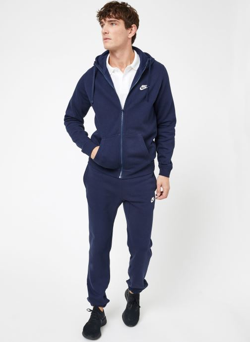 Vêtements Nike M Nike Sportwear Club Hoodie Full Zip Bleu vue bas / vue portée sac
