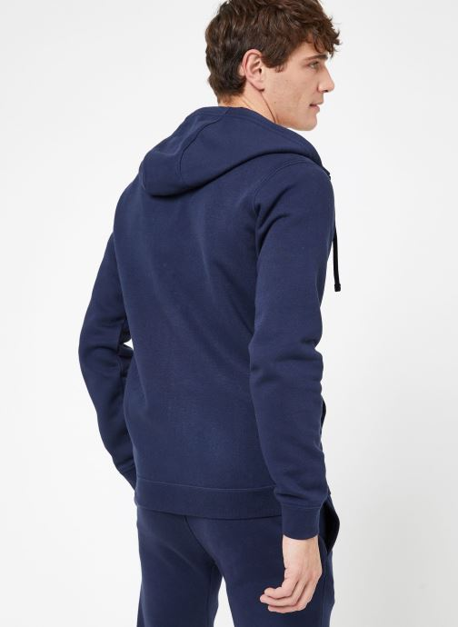 Vêtements Nike M Nike Sportwear Club Hoodie Full Zip Bleu vue portées chaussures