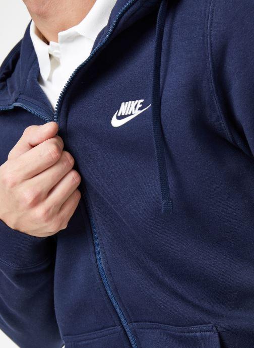 Ropa Nike M Nike Sportwear Club Hoodie Full Zip Azul vista de frente