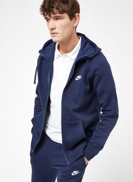 Vêtements Nike M Nike Sportwear Club Hoodie Full Zip Bleu vue droite