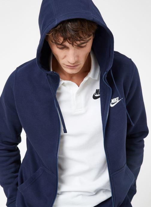Ropa Nike M Nike Sportwear Club Hoodie Full Zip Azul vista de detalle / par
