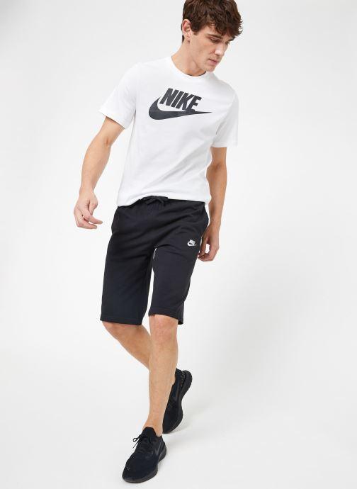 Ropa Nike M Nike Sportwear Club Short Jersey Negro vista de abajo