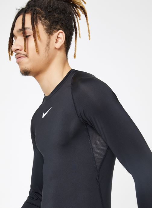 Tøj Nike M  Nike Pro Top Long-Sleeve Comp Sort detaljeret billede af skoene