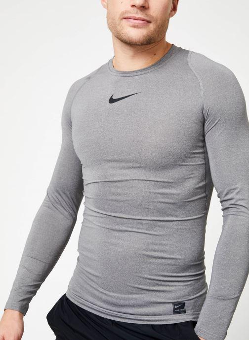 Tøj Nike M  Nike Pro Top Long-Sleeve Comp Grå detaljeret billede af skoene