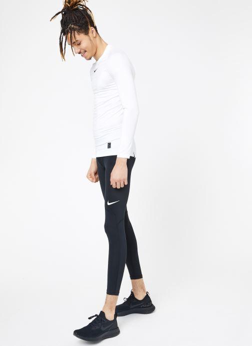 Tøj Nike M  Nike Pro Top Long-Sleeve Comp Hvid se forneden