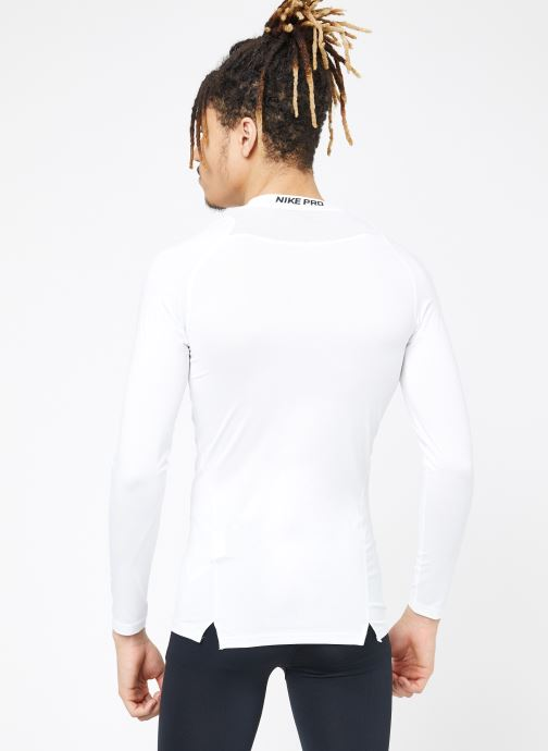 Tøj Nike M  Nike Pro Top Long-Sleeve Comp Hvid se skoene på