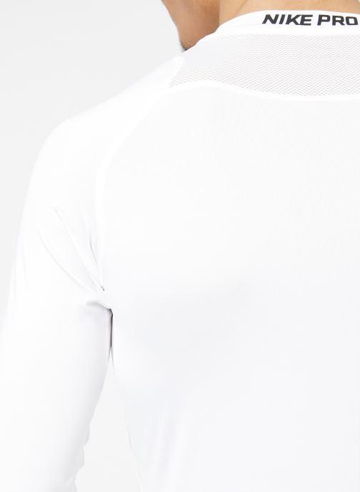 Tøj Nike M  Nike Pro Top Long-Sleeve Comp Hvid se forfra
