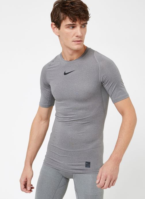 Ropa Nike M  Nike Pro Top Short-Sleeve Comp Gris vista lateral derecha