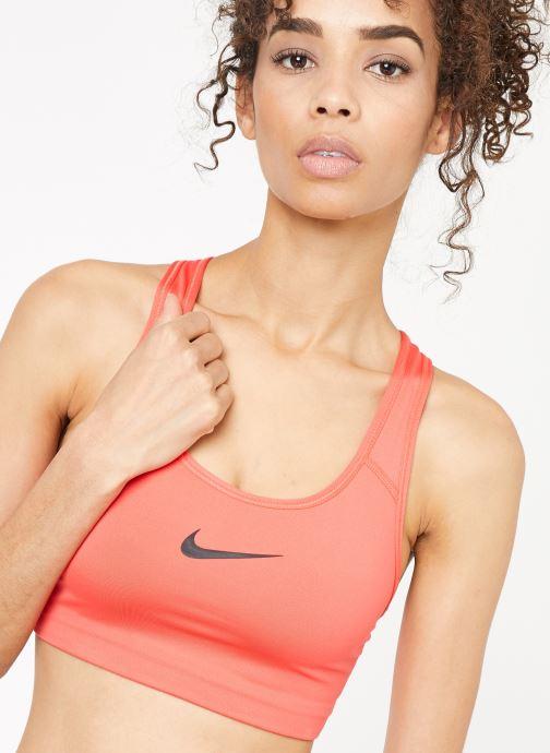 Abbigliamento Nike Nike Swoosh Bra Rosso immagine frontale