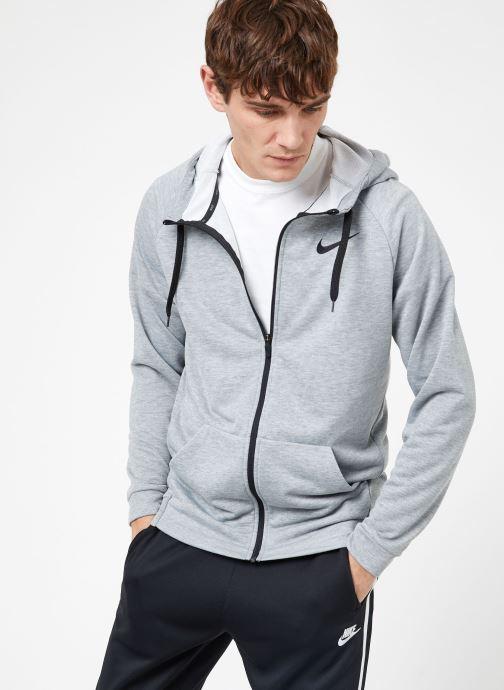 Ropa Nike M Nike Dry Hoodie Full Zip Fleece Gris vista lateral derecha
