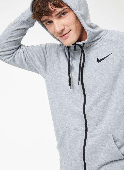Ropa Nike M Nike Dry Hoodie Full Zip Fleece Gris vista de detalle / par