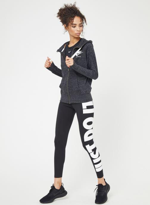 Kleding Nike W Nike Sportwear Gym Vintage Hoodie Full Zip Zwart onder