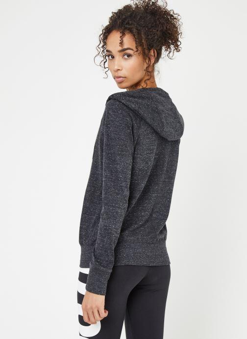 Kleding Nike W Nike Sportwear Gym Vintage Hoodie Full Zip Zwart model