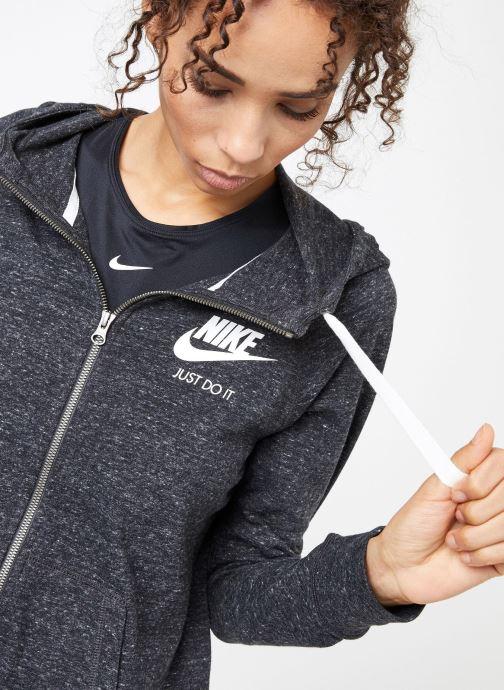 Kleding Nike W Nike Sportwear Gym Vintage Hoodie Full Zip Zwart voorkant