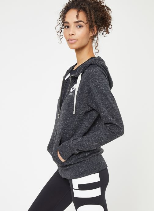 Kleding Nike W Nike Sportwear Gym Vintage Hoodie Full Zip Zwart rechts