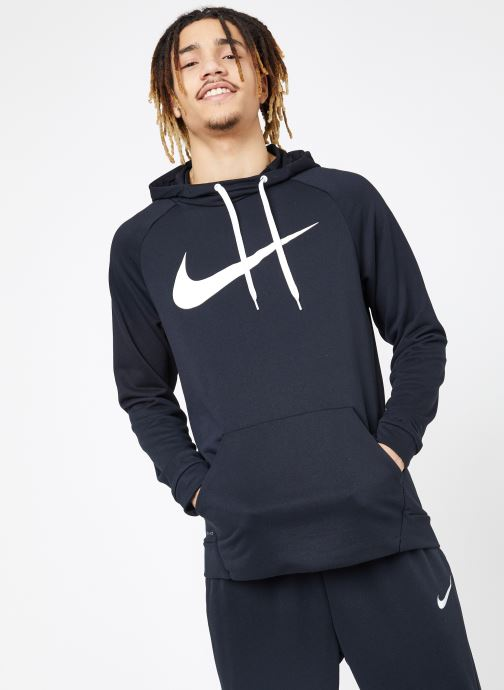 Vêtements Nike M Nike Dry Hoodie Po Swoosh Noir vue droite