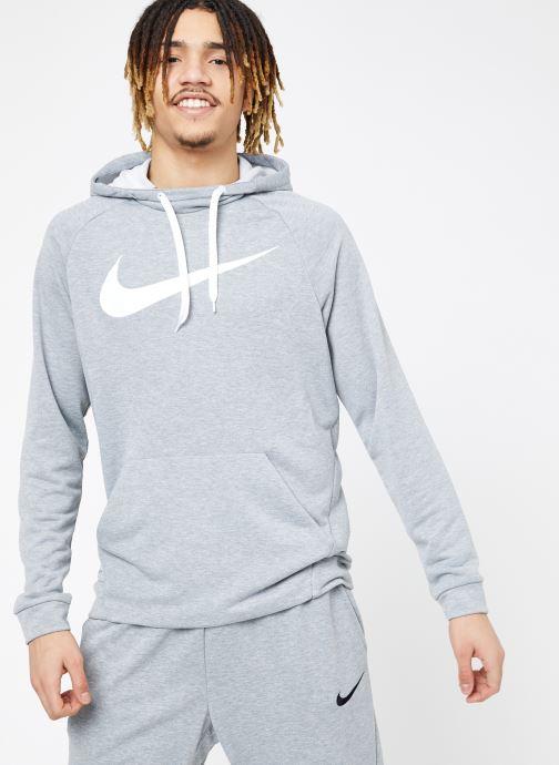 Vêtements Nike M Nike Dry Hoodie Po Swoosh Gris vue droite
