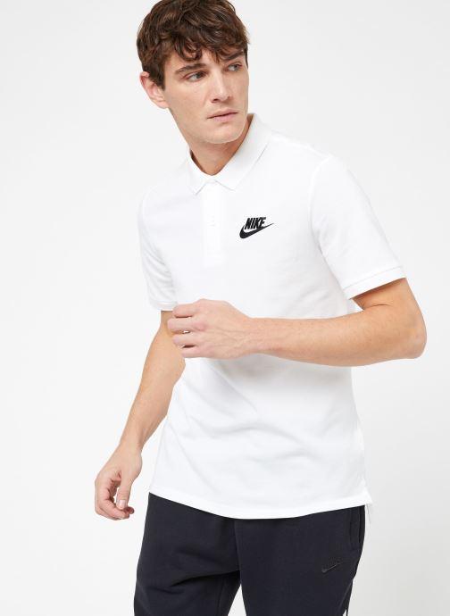Vêtements Nike M Nike Sportwear Ce Polo Matchup Pq Blanc vue droite