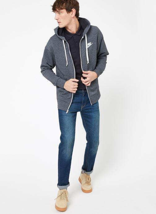 Kleding Nike M Nike Sportwear Heritage Hoodie Full Zip Grijs onder