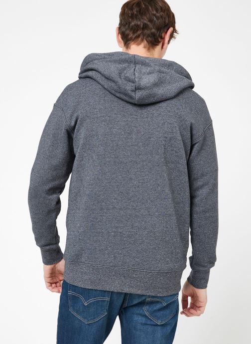 Kleding Nike M Nike Sportwear Heritage Hoodie Full Zip Grijs model