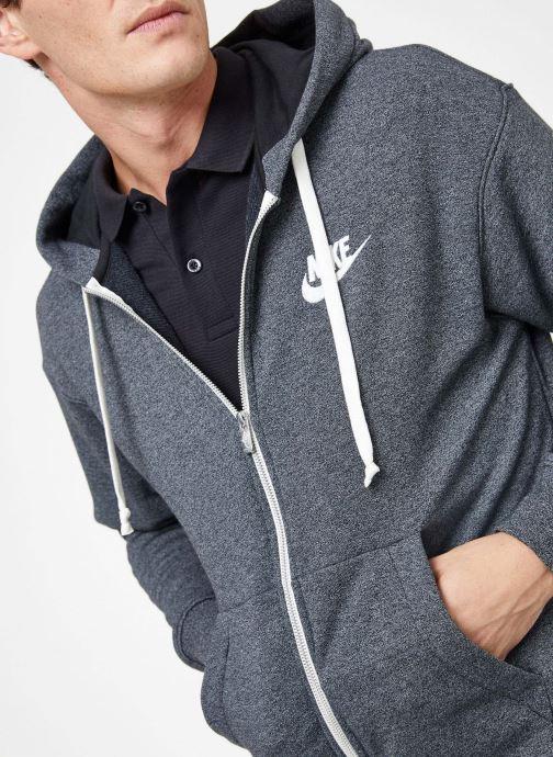 Kleding Nike M Nike Sportwear Heritage Hoodie Full Zip Grijs voorkant