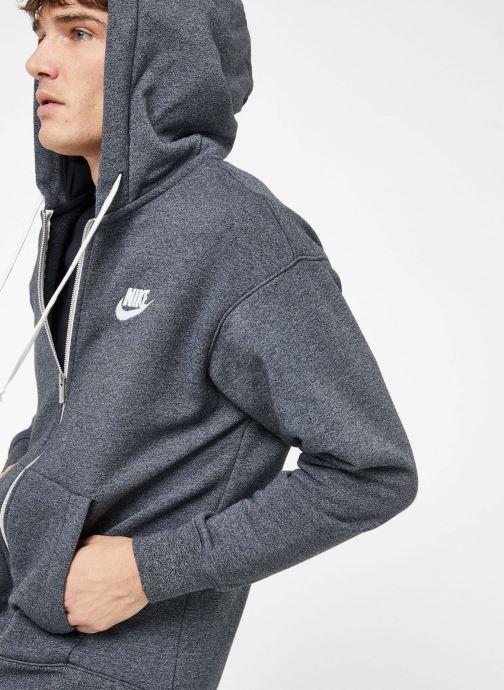 Kleding Nike M Nike Sportwear Heritage Hoodie Full Zip Grijs detail