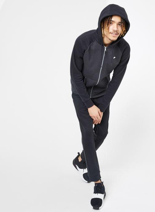 Vêtements Nike M Nike Sportwear Optic Hoodie Full Zip Noir vue bas / vue portée sac