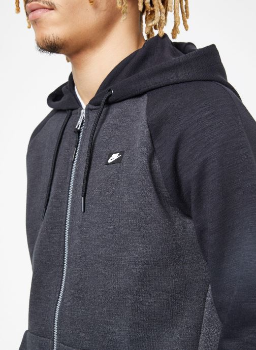 Vêtements Nike M Nike Sportwear Optic Hoodie Full Zip Noir vue face