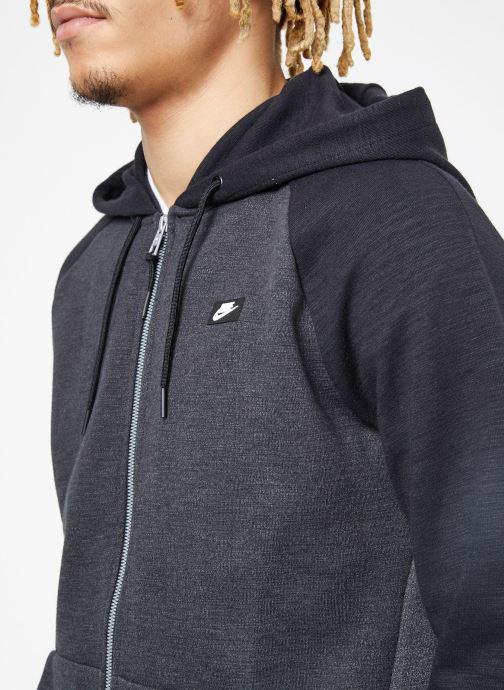 Vêtements Nike M Nike Sportwear Optic Hoodie Full Zip Noir vue face