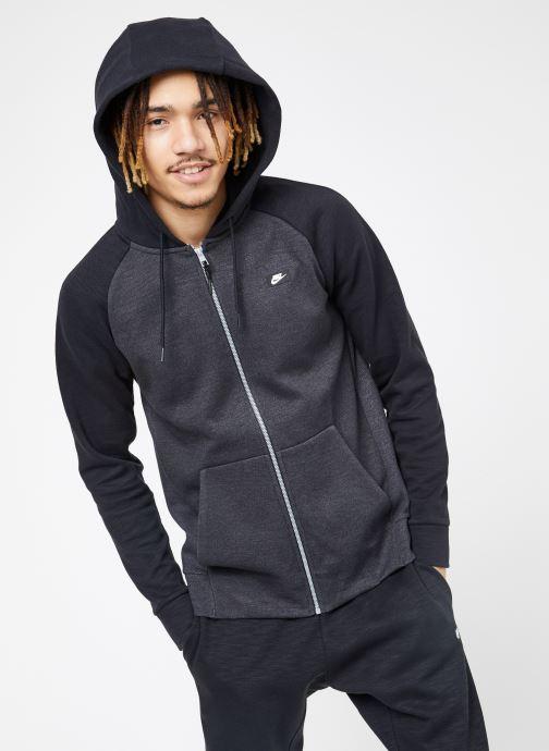 Vêtements Nike M Nike Sportwear Optic Hoodie Full Zip Noir vue droite